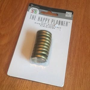 Gold Mini Discs for The Happy Planner